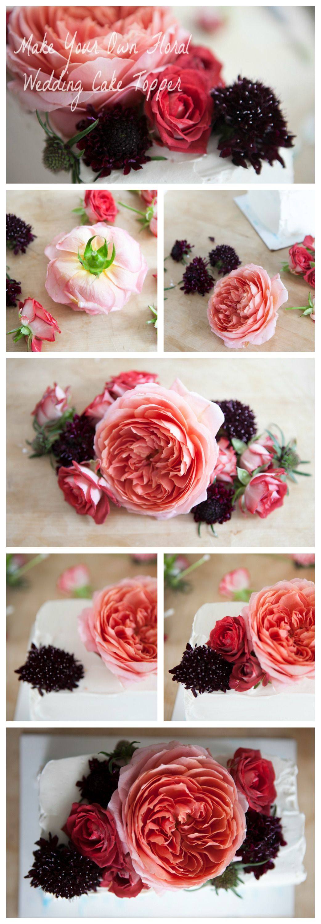 How To Make A Floral Wedding Cake Topper Rustic Wedding Chic