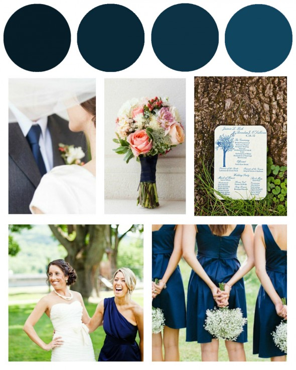 Navy Blue Wedding Color Inspiration Rustic Wedding Chic