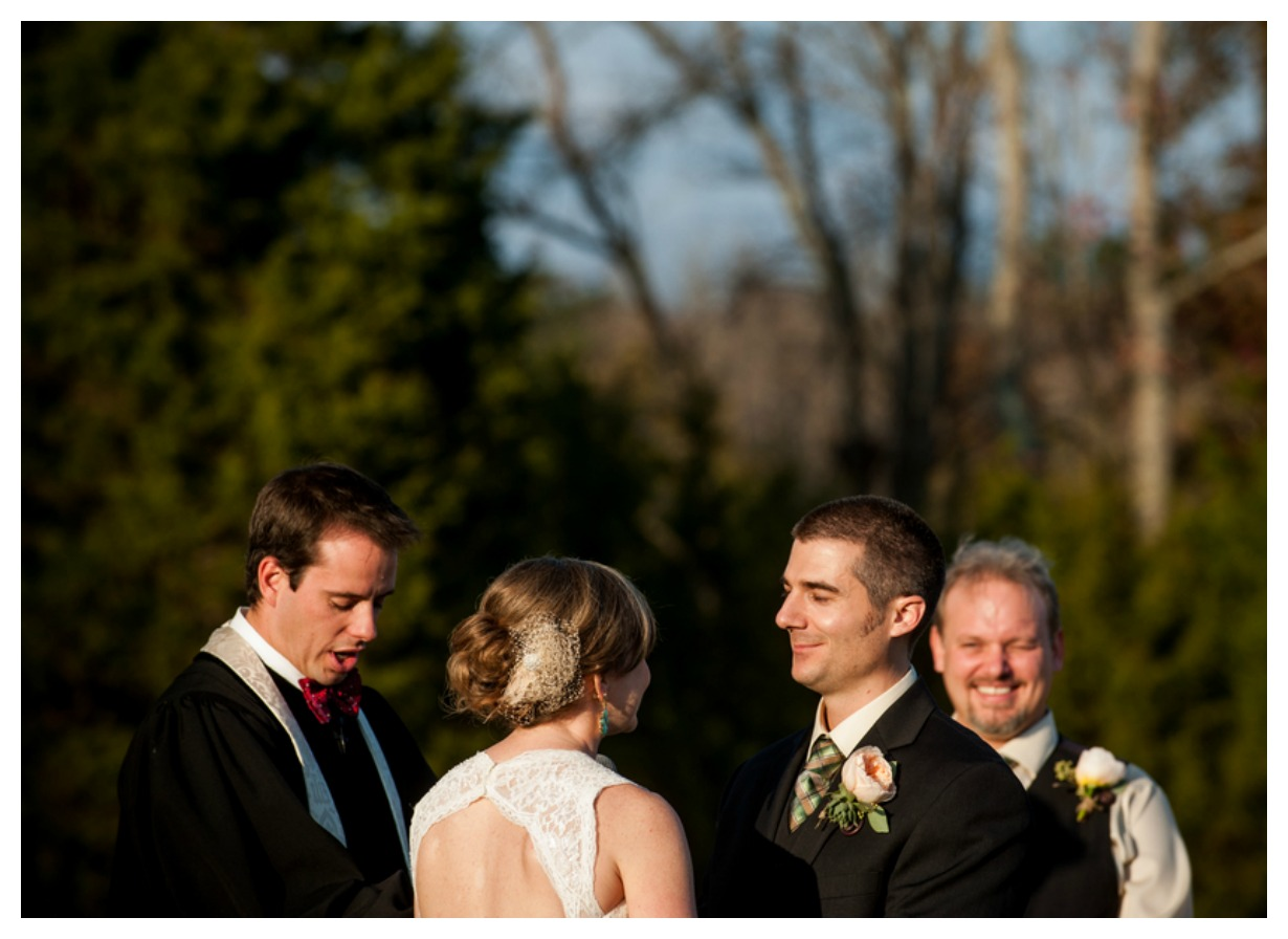 Outdoor Wedding Ceremony: Borwn & Purple Farm Wedding