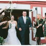 Modern Vintage Farm Wedding Sendoff with Ribbon Wands