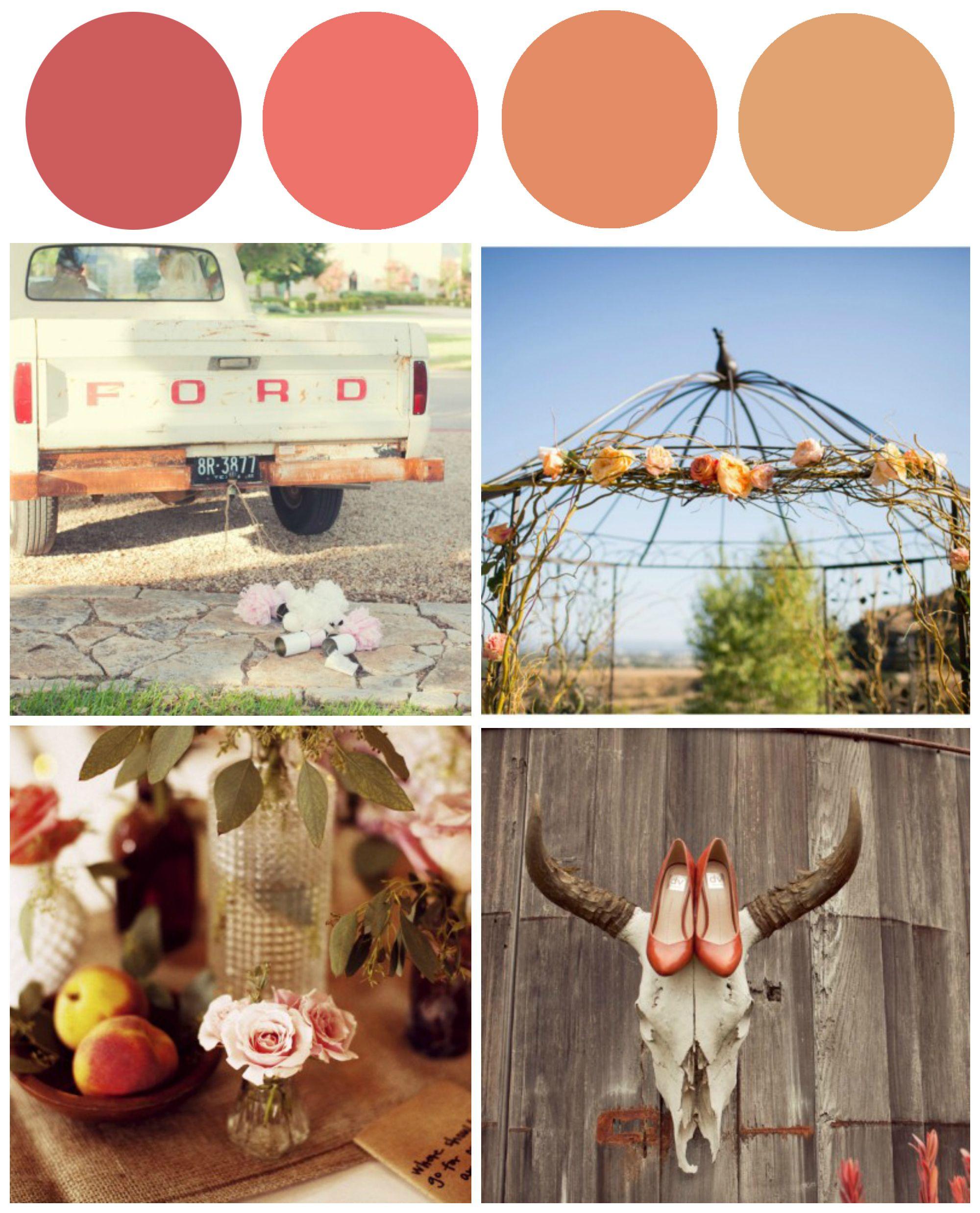 Coral Amp Salmon Wedding Color Inspiration Rustic Wedding Chic