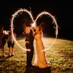 Southern Wedding Sparkler Heart