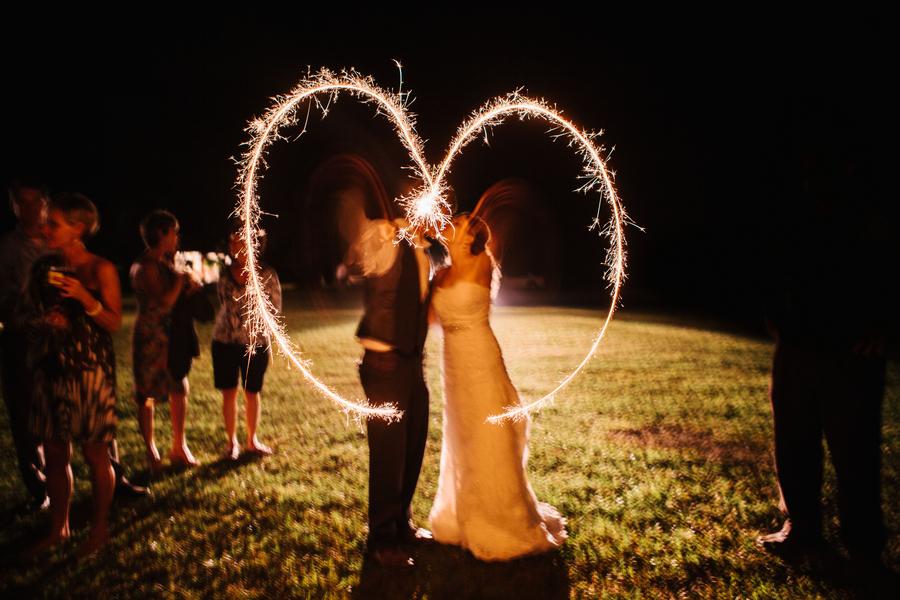 Southern Wedding Sparkler Heart