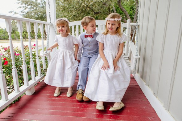 Rustic Wedding Flower Girls