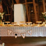 Farm Wedding Sweets Table
