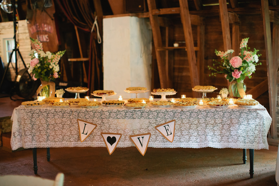 Farm Wedding Sweets Table