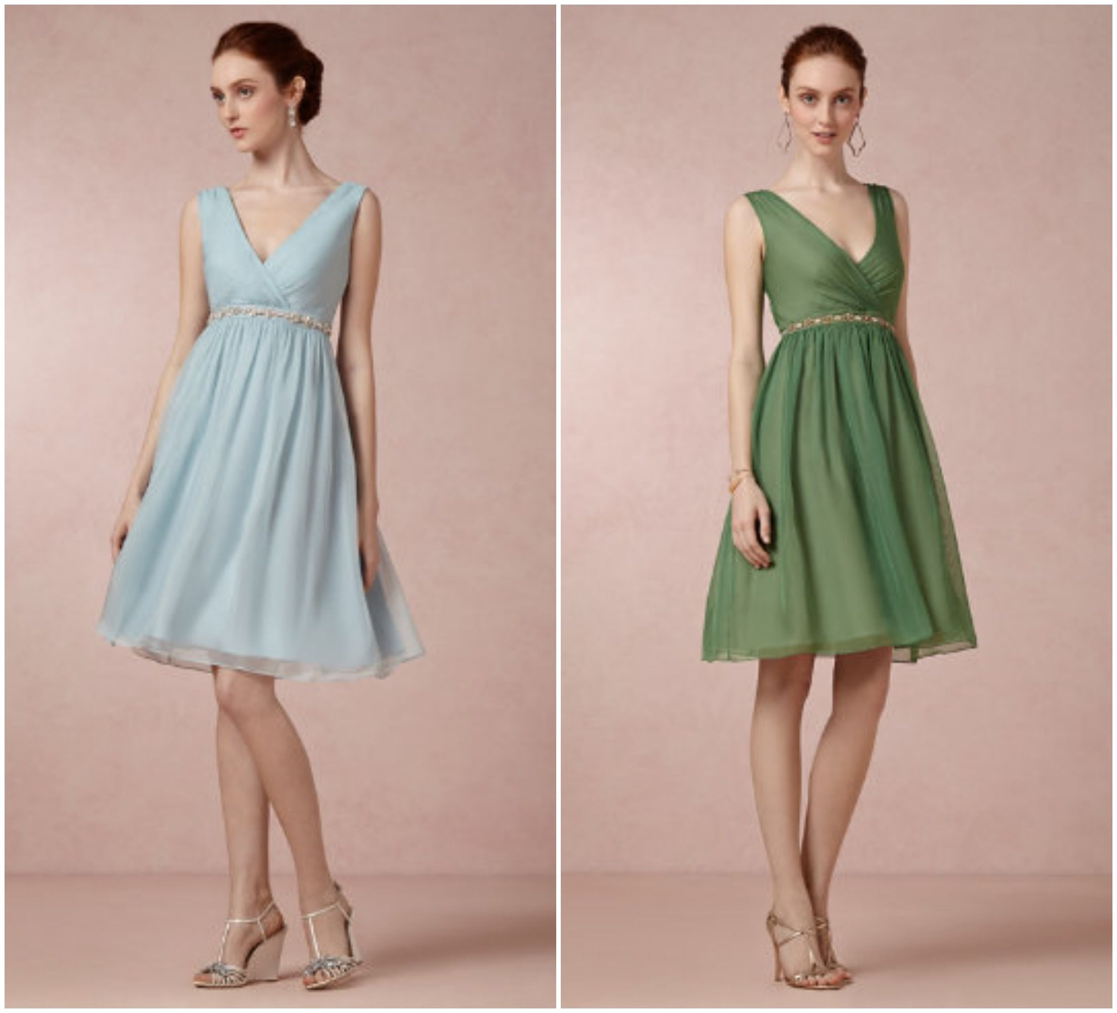 Garden Wedding Bridesmaid Dresses - Rustic Wedding Chic