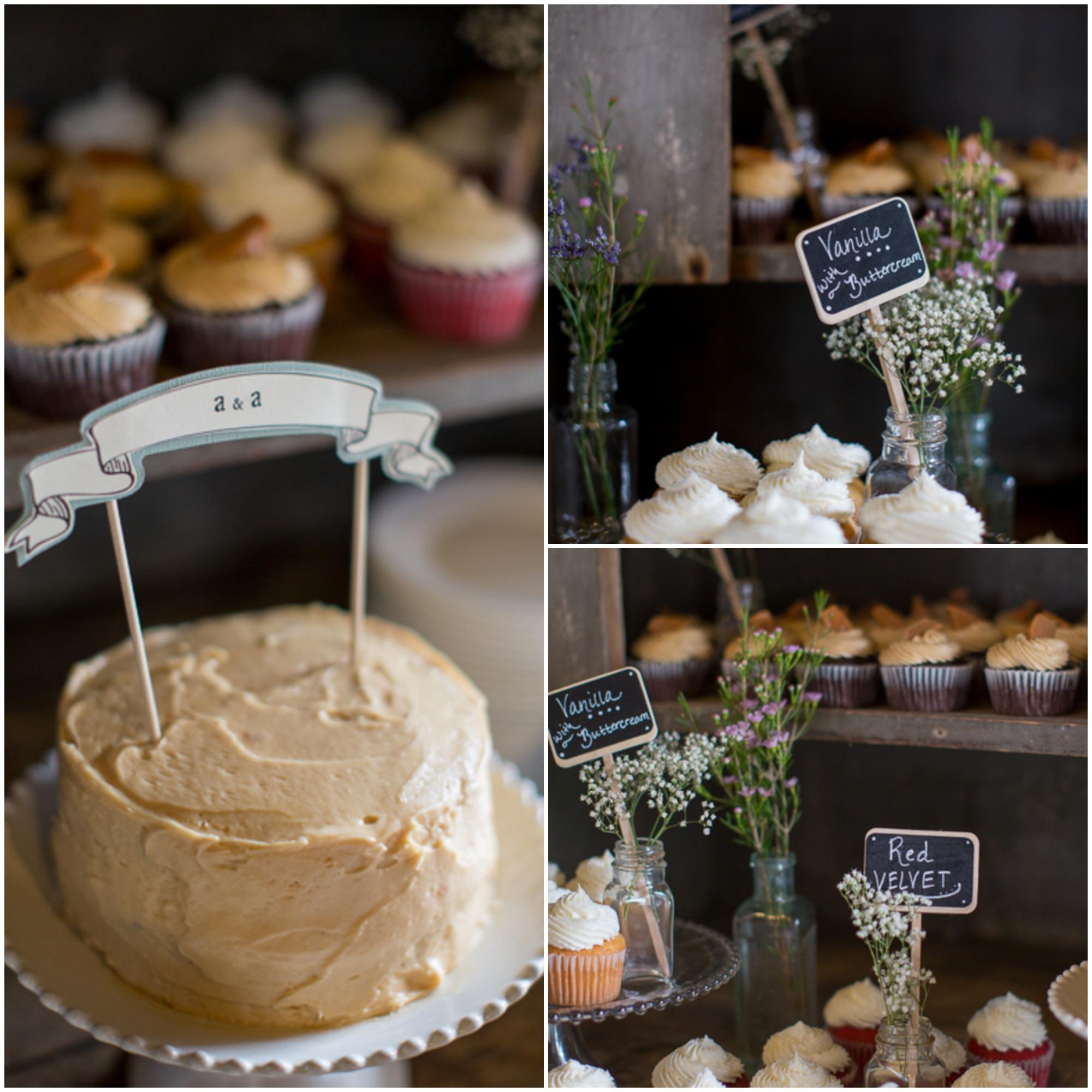 Rustic Wedding Country Barn Farmhouse Wedding Cake Cupcake: Farm Wedding With Vintage Details