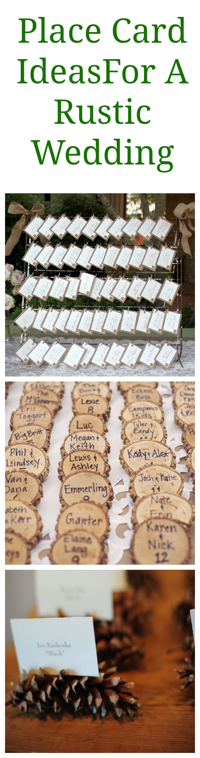 Rustic wedding place card display ideas rustic wedding chic for Place card for wedding
