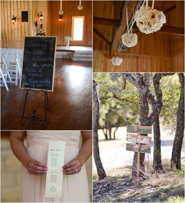 Elegant Texas Country Wedding Wedding Ceremony Details