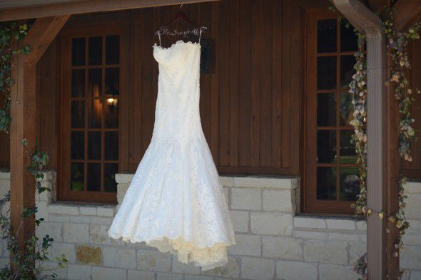 Texas Country Wedding Dress and Special Hanger
