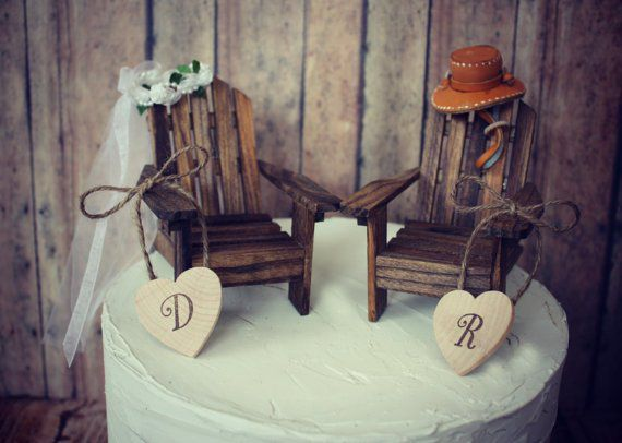 Unique Wedding Cake Toppers Rustic Wedding Chic