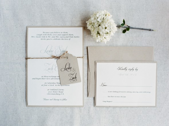 Elegant Farm Wedding Invitation