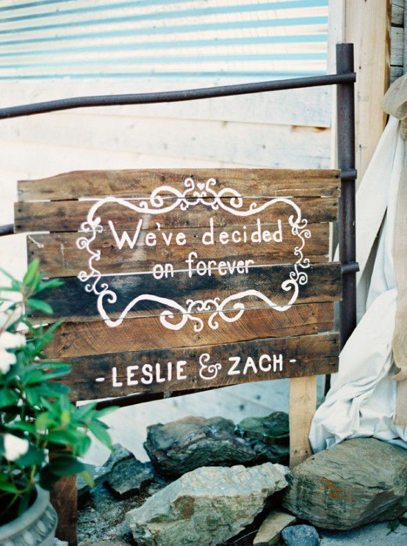 Rustic Vintage Wedding Sign
