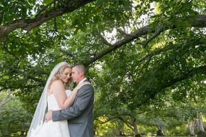 farm wedding bride + groom