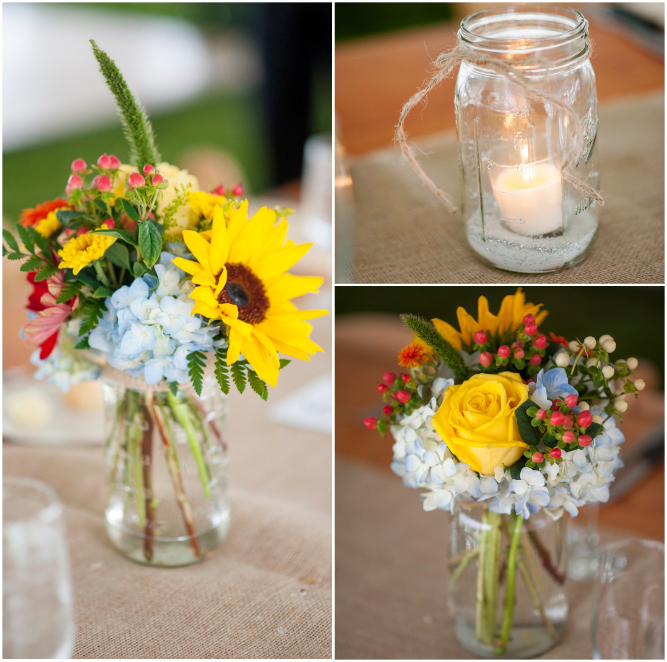 Country Wedding Ideas Flowers: Backyard Country Wedding