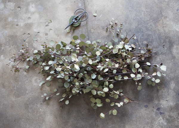 wedding Floral table What inexpensive / Branches Scissors  Tape / : Eucalyptus runner Need You'll
