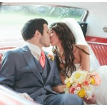Red Mustang Wedding Car