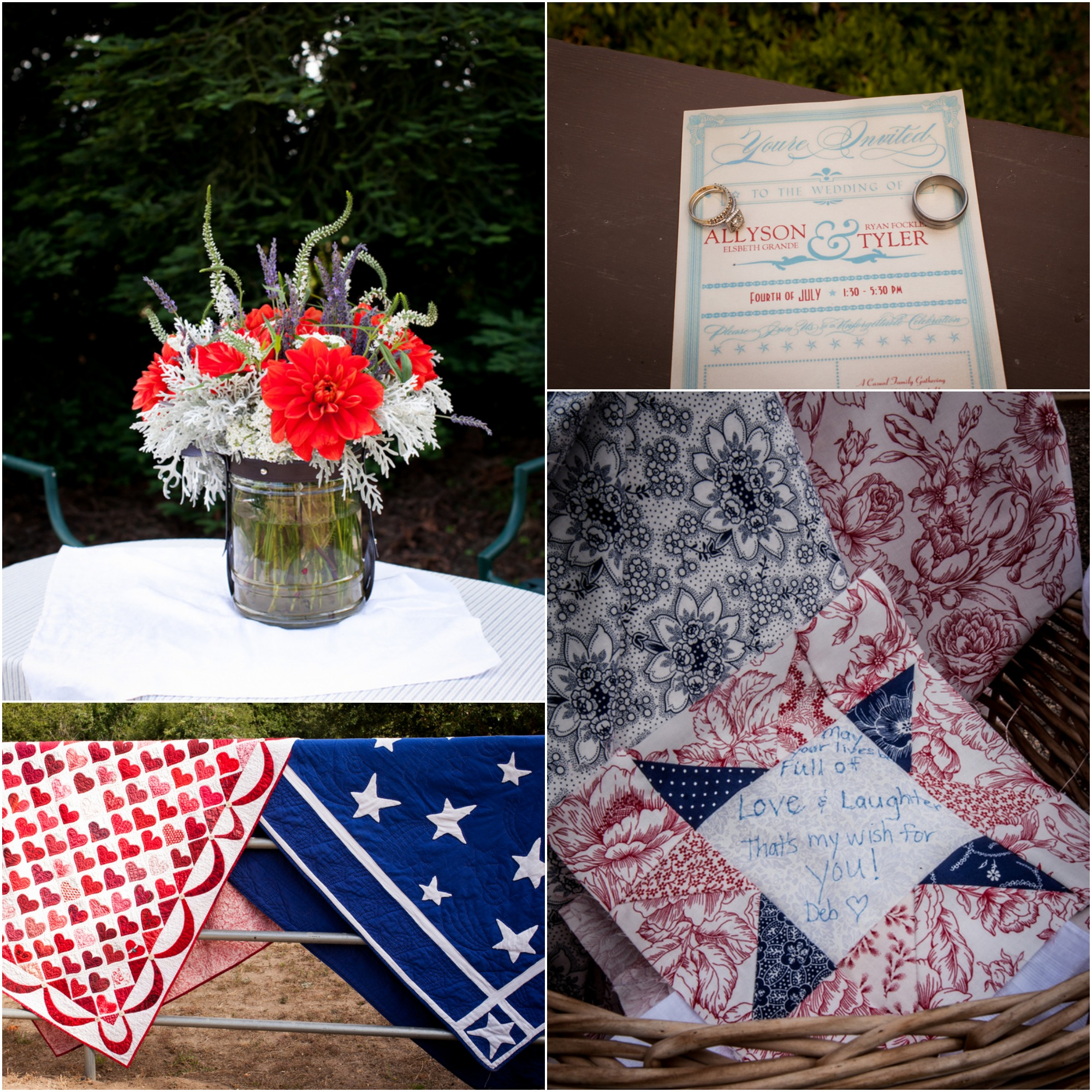 Red, White & Blue Fourth Of July Wedding
