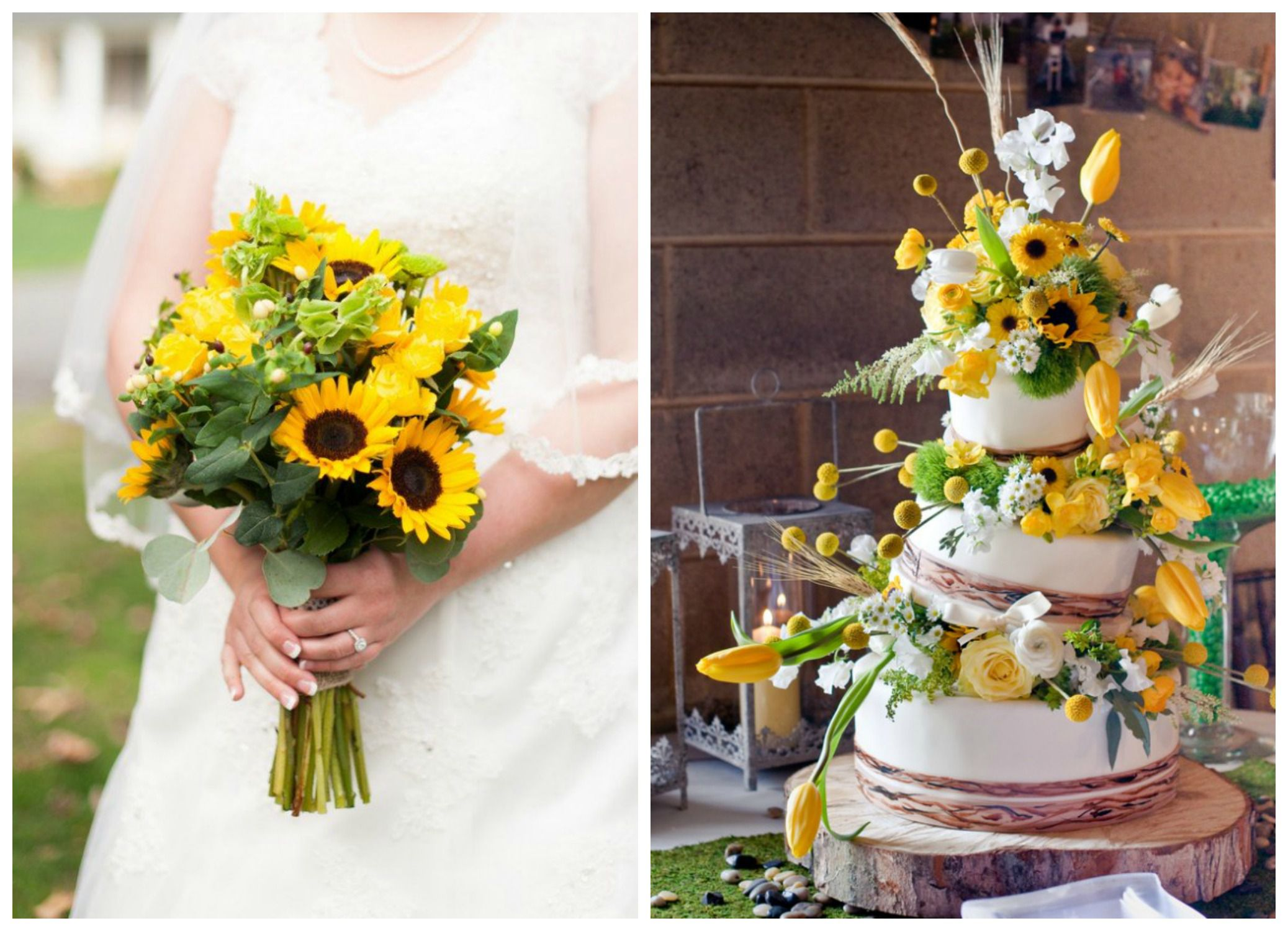 Sunflower Wedding Color Inspiration - Rustic Wedding Chic Sunflower Wedding