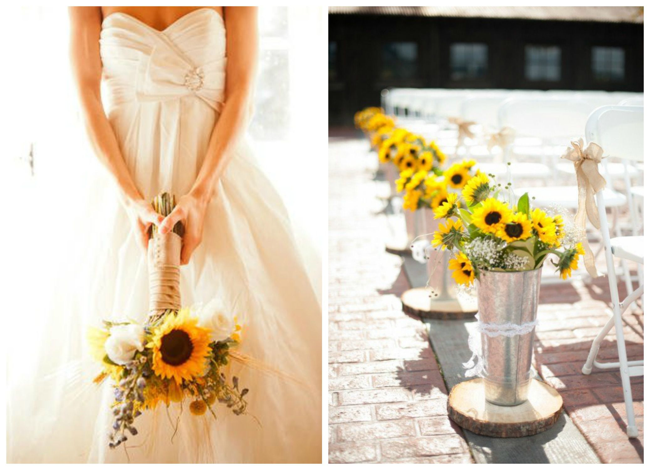 Sunflower wedding color inspiration rustic wedding chic sunflower wedding color inspiration junglespirit Image collections