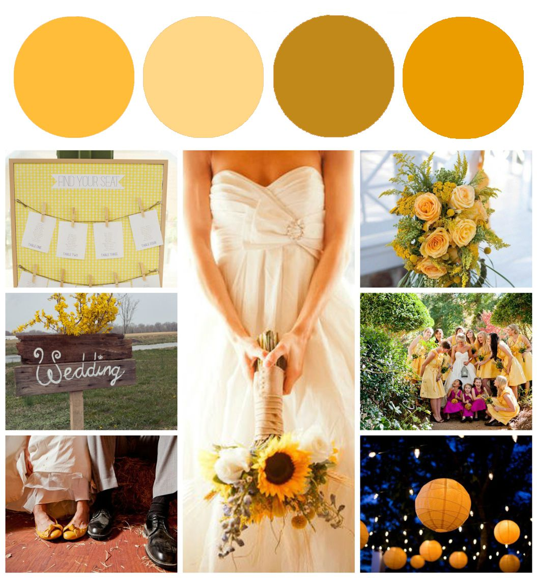 Sunflower Wedding Color Inspiration