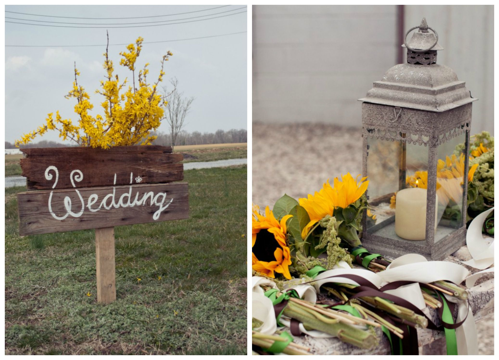 Sunflower wedding color inspiration rustic wedding chic sunflower wedding color inspiration junglespirit Choice Image