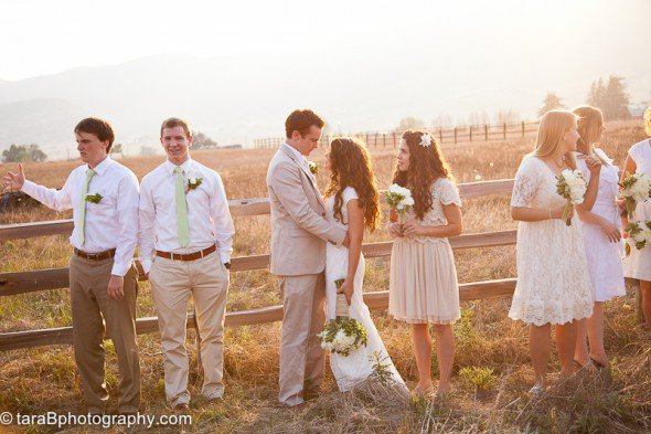 White Bridesmaids Dresses From Real Weddings
