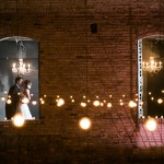 Rustic urban wedding lights