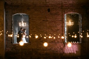 Rustic urban wedding lights