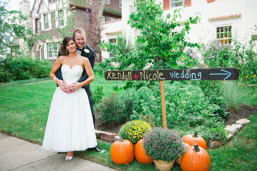 Fall Backyard Budget Wedding - Rustic Wedding Chic
