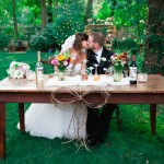 Backyard Wedding Sweetheart Table
