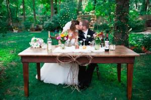 Backyard Wedding Sweetheart Table