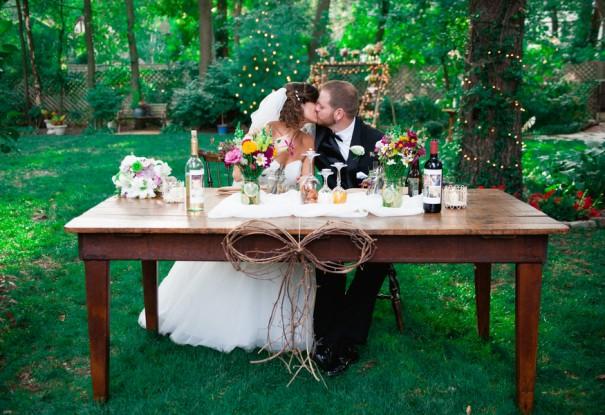 Fall Backyard Budget Wedding: Nicole + Kendall