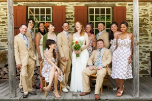 Hudson River Valley Outdoor Wedding Party