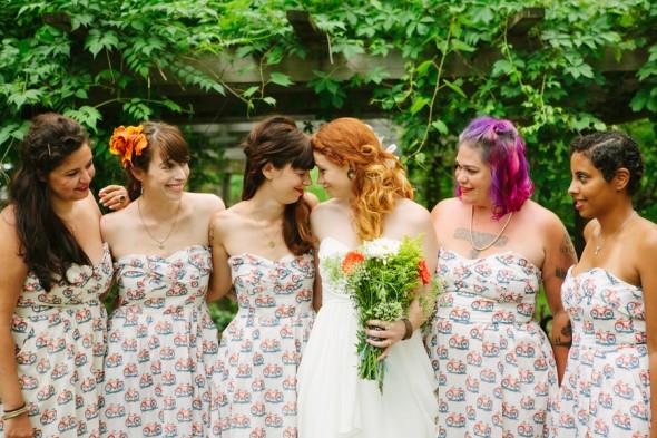 Hudson River Valley Outdoor Wedding Bridesmaids + Bride