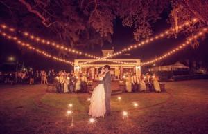 Charleston outdoor wedding reception