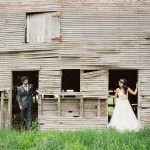 Rustic Vineyard Wedding Couple In Barn