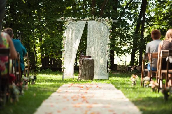 Farm Wedding Outdoor Ceremony Location