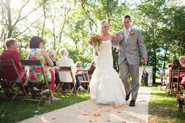 Outdoor Ceremony Bride + Groom
