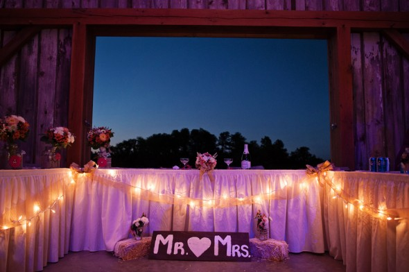 Farm Wedding Barn Lights