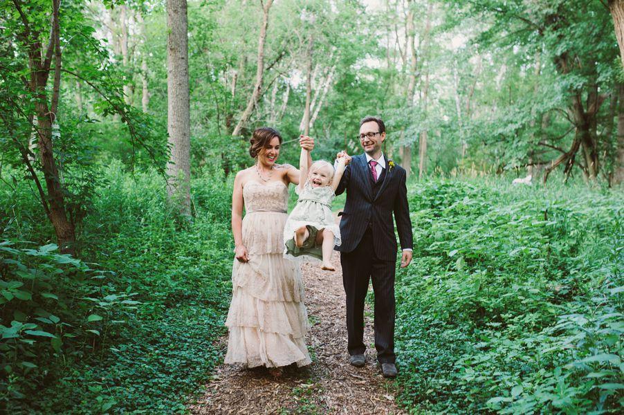 Backyard Wedding Bride and Groom