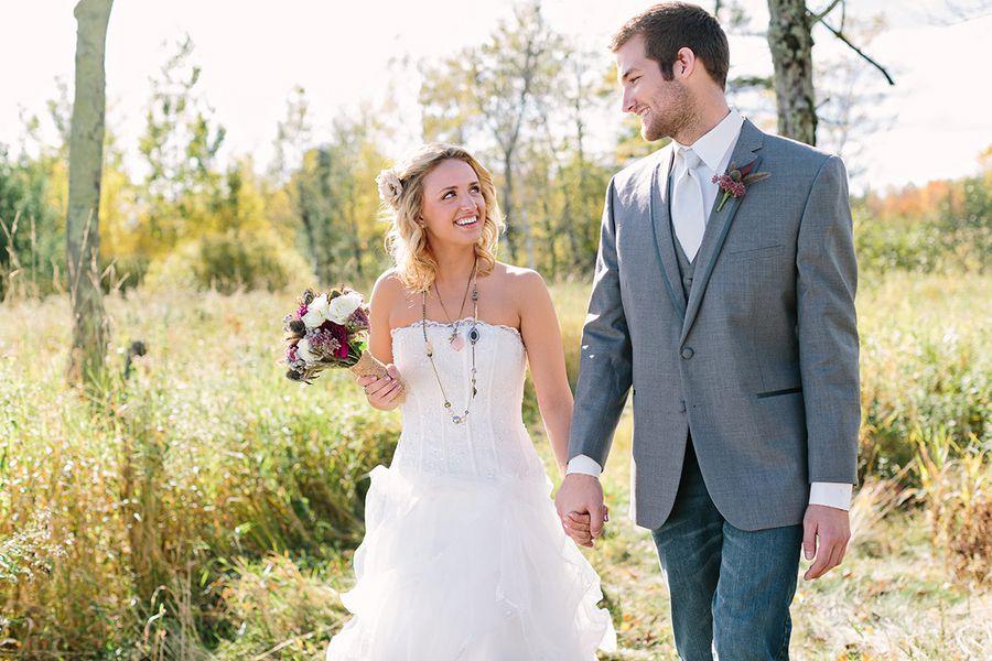 Fall Rustic Wedding Bride