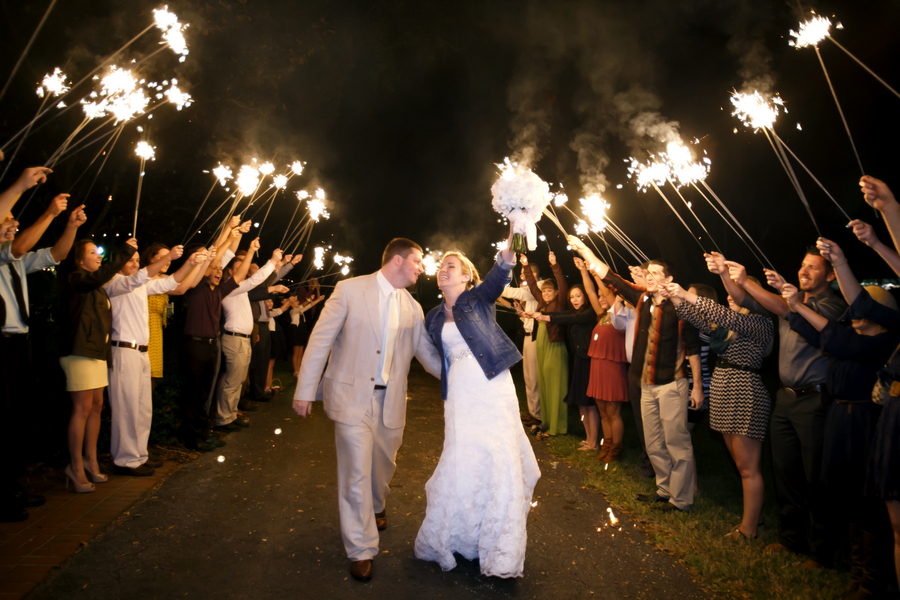 Country wedding sparklers