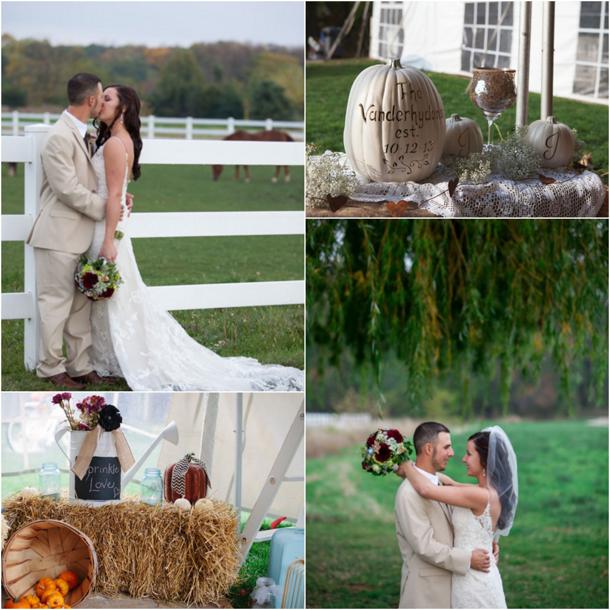 Country Rustic Wedding Altars: Autumn Country Farm Wedding