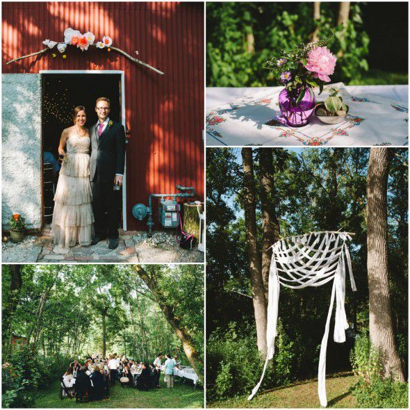 Casual Outdoor Wedding Reception Ideas: A Vintage Style Backyard Wedding