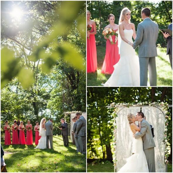 Farm Wedding Outdoor Ceremony