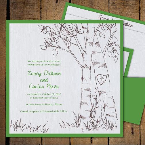 Wedding Invitation Tree: Birch Tree Wedding Invitations