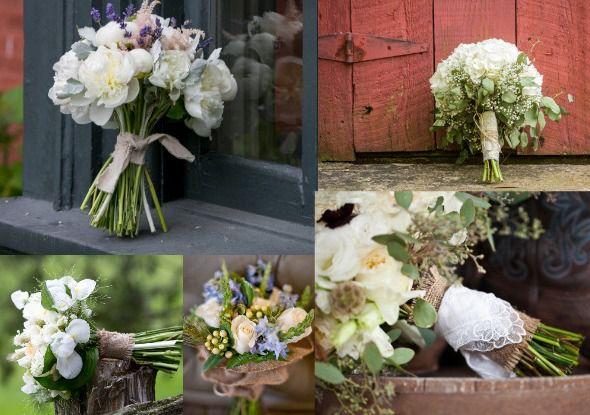 Burlap Wrapped Bouquet Ideas