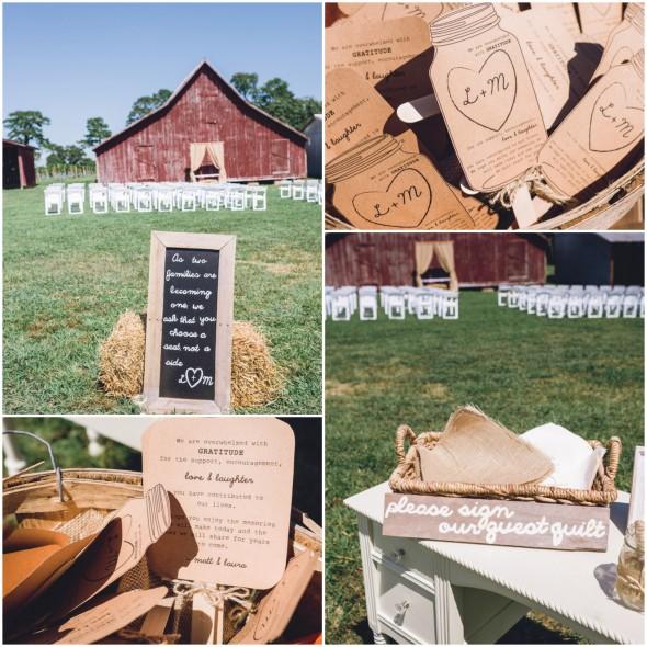 Country barn wedding signs